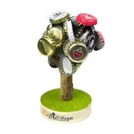 Árbol cervecero pequeño recolector de chapas magnético, ideal como detallito para fiestas, recoge hasta 70 chapas