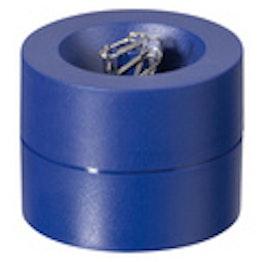 Papercliphouder magnetisch met sterke kernmagneet, van kunststof, blauw