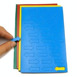 Magnetsymbole Pfeil klein für Whiteboards & Planungstafeln, 30 Symbole pro Bogen, in verschiedenen Farben
