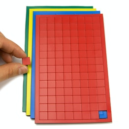 Magnetic symbols Square small for whiteboards & planning boards, 112 symbols per sheet, in different colours