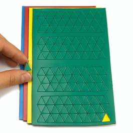 Magnetic symbols Triangle small for whiteboards & planning boards, 180 symbols per sheet, in different colours