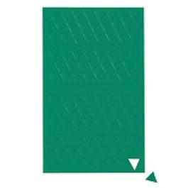 Triángulos magnéticos pequeños para pizarras blancas y de planificación, 180 símbolos por hoja, verde