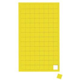 Cuadrados magnéticos pequeños para pizarras blancas y de planificación, 112 símbolos por hoja, amarillo