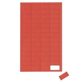 Rectángulos magnéticos pequeños para pizarras blancas y de planificación, 56 símbolos por hoja, rojo