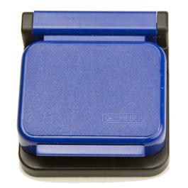 Clips magnétiques MAUL autocollants, lot de 10, bleu