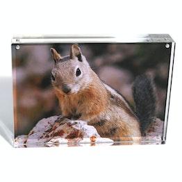 Cadre magnétique 18 x 13 cm cadre à fermeture magnétique, en verre acrylique transparent, pour format portrait et paysage