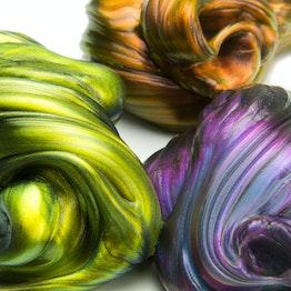 Intelligent putty Flip-Flop glinstert in verschillende kleuren, niet magnetisch!