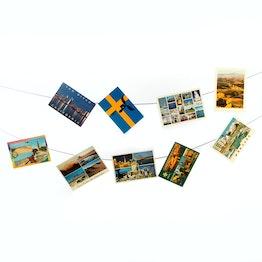 Fotoseil 3 m mit 2 Schlaufen, inkl. 30 Magnete