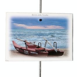 Fil porte-photos 2 m avec poids avec boucle et poids en acier, 20 aimants inclus