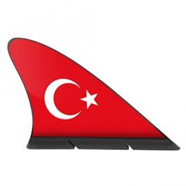 Aileron de requin drapeau drapeau magnétique pour la voiture, Turquie