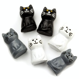 Kattemagneten koelkastmagneten in de vorm van katten, set van 6