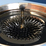Ferrofluid fountain