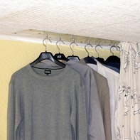 Space-saving wardrobe