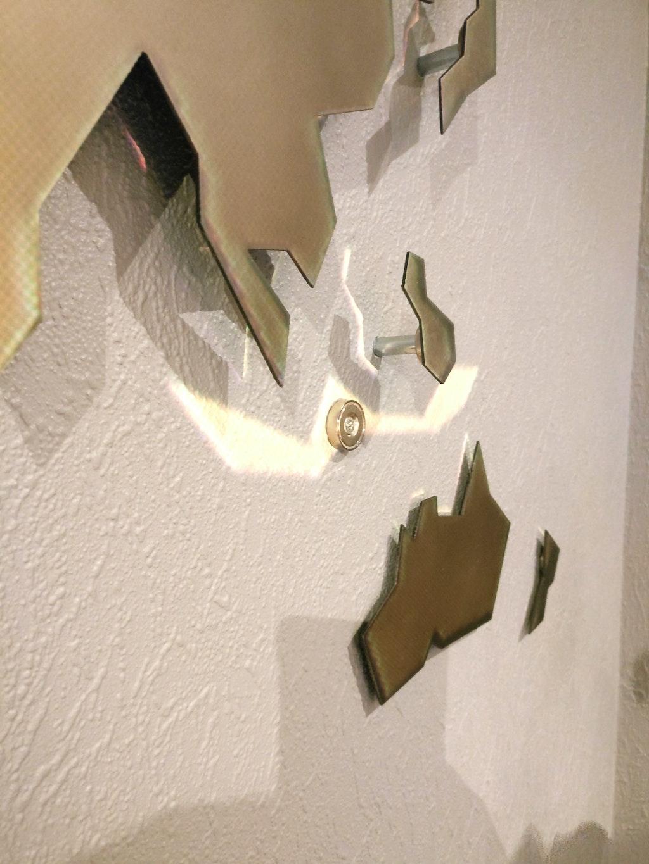 Wanddecoratie Wereldkaart Metaal.Magnetische Metalen Wereldkaart Met 3d Effect Als Wanddecoratie