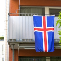 Flag holder for the balcony
