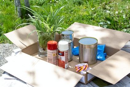 Materiale necessario per i vasi da fiori sospesi