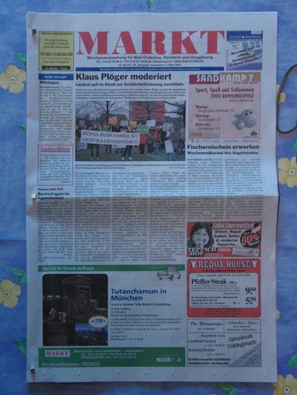So ordentlich sieht die Zeitung nun nach dem Lesen aus!