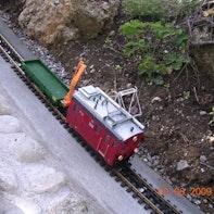 Eisenbahn mit Kletterhilfe