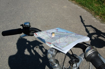 Fahrradkartenhalter mit einem Magnet