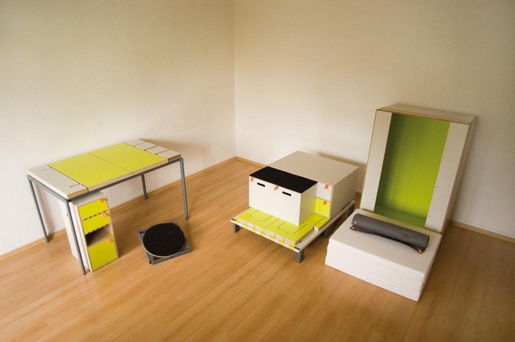 assembler des meubles avec des aimants. Black Bedroom Furniture Sets. Home Design Ideas
