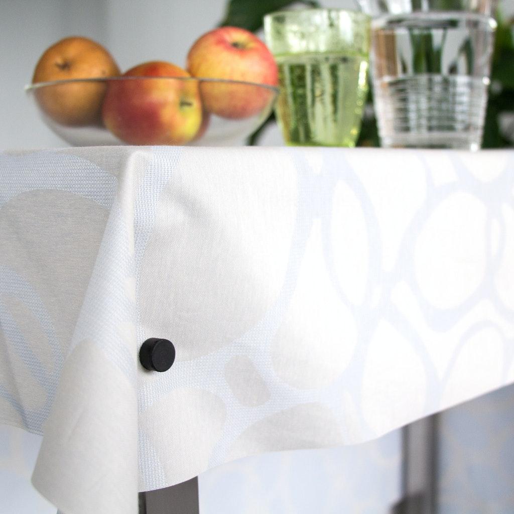 Fixer une nappe sur la table applications aimants for Sur la table application