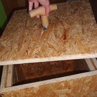 Holzkiste mit Magnetverschluss