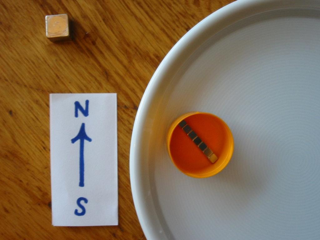 kompass mit magneten selber bauen magnet anwendungen. Black Bedroom Furniture Sets. Home Design Ideas