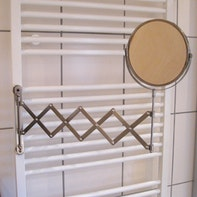 Attaching bathroom mirror