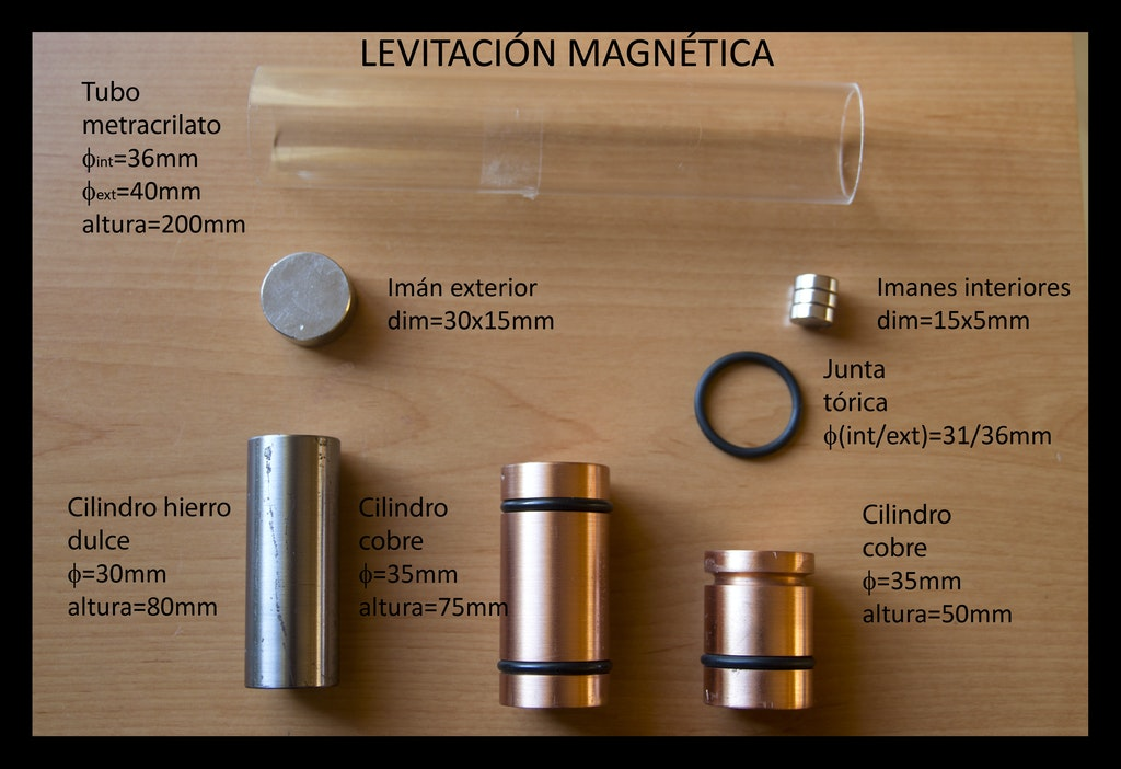 Levitation with copper - make magnets float - supermagnete de
