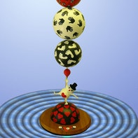 "Skulpturen ""Balance"", ""Trulli"", ""Magier"""