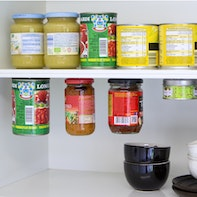 Creating storage space in the pantry
