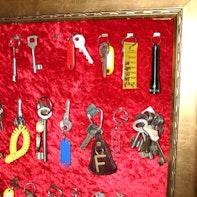 Schlüsselbrett mit Samt