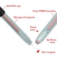 Pinzette für kleine Magnete