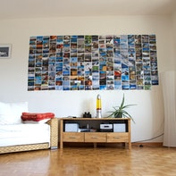 Mur de photos low-cost