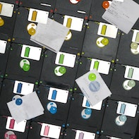 Magnetic wall made of old floppy disks