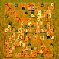 Scrabble decorativo