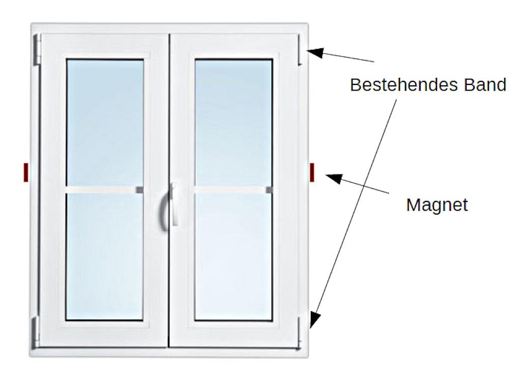 Fensterrahmen bündig schliessen - Magnet-Anwendungen - supermagnete