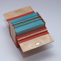 Wooden flash card box