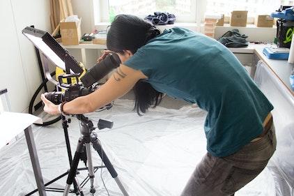 Schnellbildkamera in Position