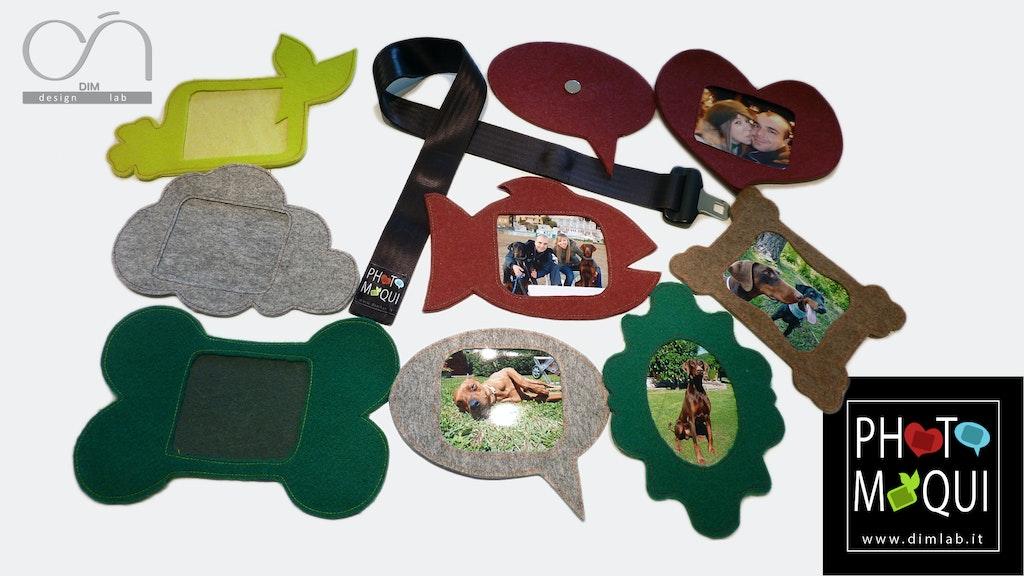 Recycling-Bilderrahmen aus Filz und Sicherheitsgurt - supermagnete