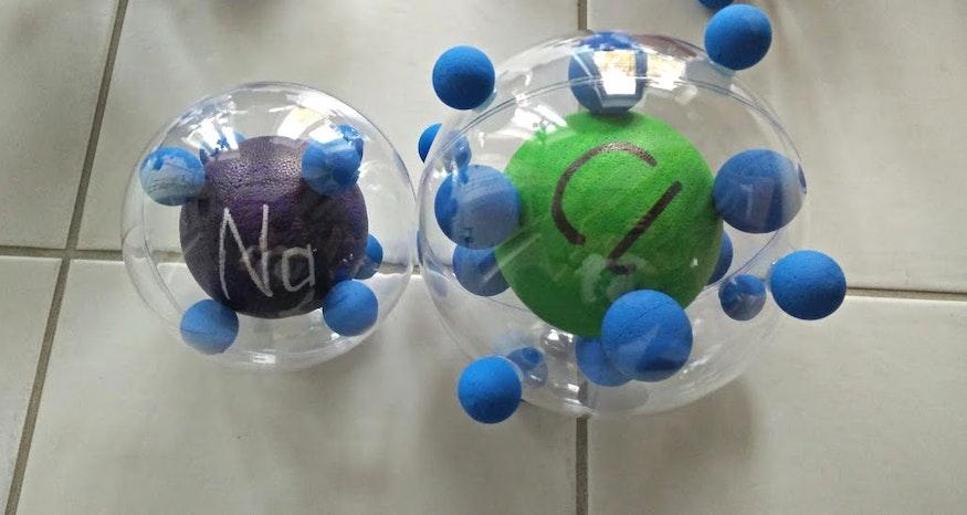 Chlorure de sodium NaCl, face avant
