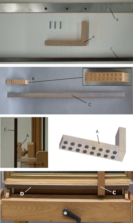 Die einzelnen Bauteile aus unterschiedlichen Perspektiven.