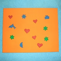 Bulletin board with magnetic FIMO creations