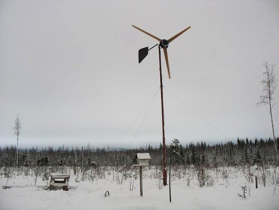 Wind turbine with the completed power generator