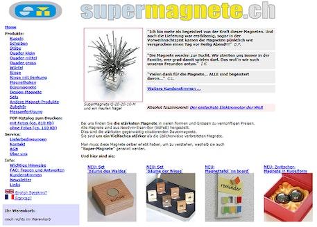 Una versión anterior de la tienda virtual
