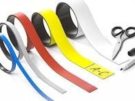 Gekleurd magneetband om op maat te knippen en te beschrijven of beletteren