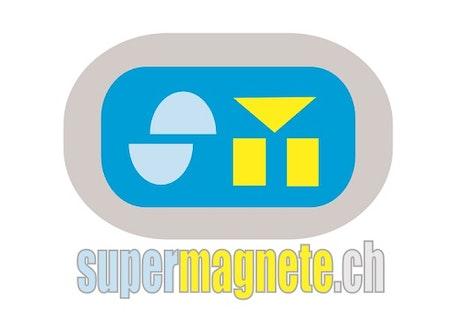 El primer logotipo de supermagnete