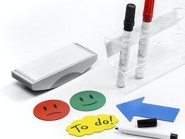 Symboles magnétiques, nettoyants, supports pour marqueurs, etc.