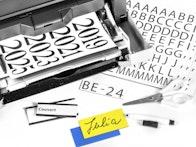 Magnetische etiketten in verschillende afmetingen