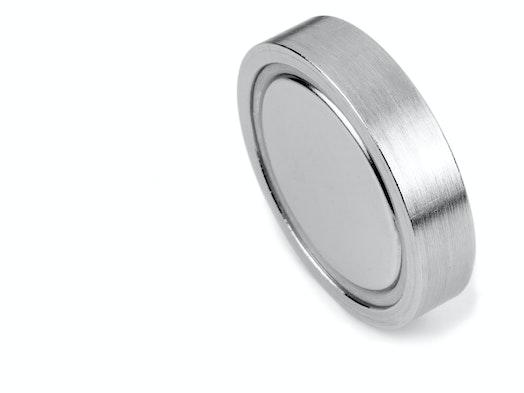 Glue-in pot magnets